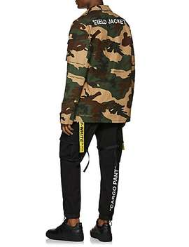 Washed Cotton Blend Cargo Pants by Off White C/O Virgil Abloh