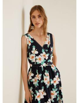 Vestido De Algodão às Flores by Mango