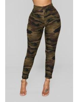 Sergeant Sassy Leggings   Olive by Fashion Nova