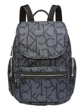 Nylon Signature Backpack by Calvin Klein