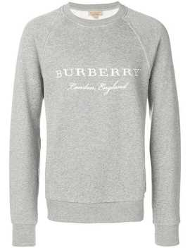 Burberry Embroidered Jersey Sweatshirthome Men Burberry Clothing Sweatshirts by Burberry