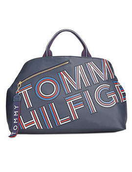 Adari Coated Twill Tote, Created For Macy's by Tommy Hilfiger