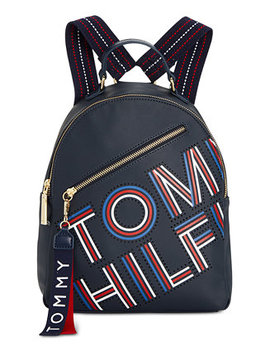 Adari Coated Twill Backpack, Created For Macy's by Tommy Hilfiger