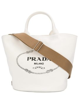 Front Logo Tote Bag by Prada