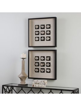 Brayden Studio 2 Black/Gray Piece Linen Shadow Box Wall Décor by Brayden Studio