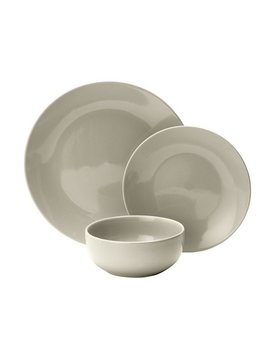 Argos Home Bosa 16 Piece Stoneware Dinner Set   Ash White by Argos