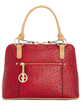 Ostrich Embossed Dome Satchel, Created For Macy's by Giani Bernini
