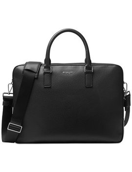 Men's Bryant Large Leather Briefcase by Michael Kors