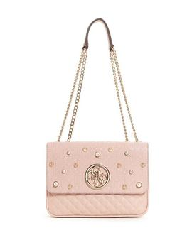 Gioia Embossed Stud Embellished Clutch by Guess