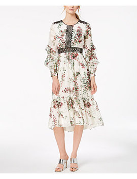 Floral Print Midi Dress by Taylor