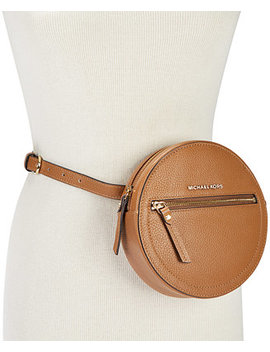 Round Pebble Leather Fanny Pack by Michael Michael Kors