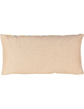Beige Embroidered Cushion 30x60cm by