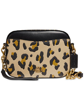 Leopard Small Camera Bag by Coach