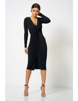 **Slinky Knot Dress By Club L London by Topshop