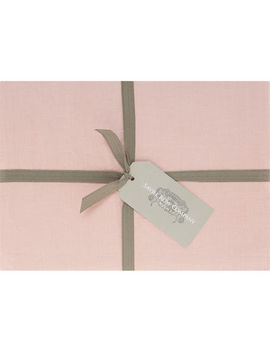 Single Pink Fitted Sheet by The Savile Row Company