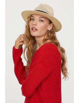 Sweter Z Dekoltem W Serek by H&M