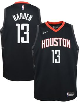 Nike Youth Houston Rockets James Harden #13 Black Statement Dri Fit Swingman Jersey by Nike