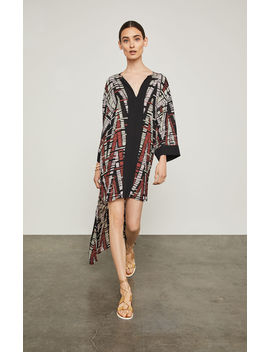 Abstract Chevron High Low Dress by Bcbgmaxazria