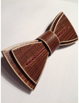 Unique Leather Bowtie // Bow Tie / Wedding / Kentucky Derby // Guy // Wood Bowtie // Gifts //  Wooden   // Groomsmen // Limited// College / by Madison Street Leather