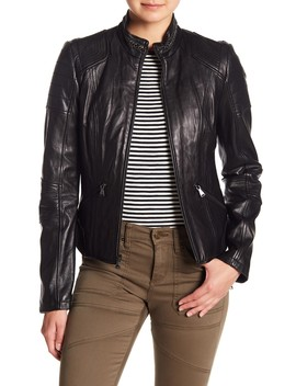 Chain Collar Leather Jacket by Guess