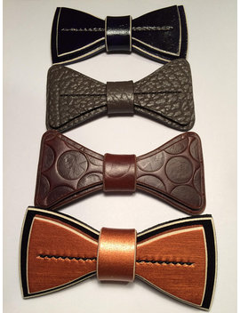 Clearance Ties / Bowties / Leather / Unique / Mens by Madison Street Leather