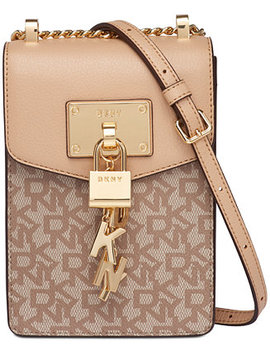 Elissa Chain Strap Signature Crossbody, Created For Macy's by Dkny
