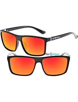 Polarized Tac Sunglasses Men Women Mirrored Rectangular/Rectangle Lightweight by So Flow Sunglasses