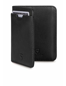 Vaultskin City Slim Bifold Wallet With Rfid Protection For Cards And Cash – Top Quality Italian Leather   Ultra Thin Front Pocket Holder Designed For Up To 9 Cards And Cash by Vaultskin