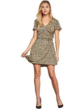 Cupcakes And Cashmere Women's Lenna Leopard Print Wrap Dress by Cupcakes And Cashmere