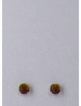 Square Off Ombre Faux Gem Earrings by Go Jane