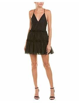 Cami Nyc Womens Ruffle Silk Blend Cocktail Dress, Xl, Black by Cami Nyc