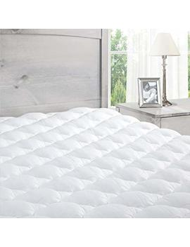 Pillowtop Mattress Pad With Fitted Skirt   Extra Plush Topper Found In Marriott Hotels   Made In The Usa, Queen by Exceptional Sheets
