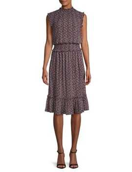 Smocked Tulip Midi Dress by Michael Michael Kors