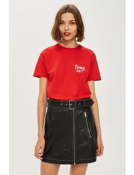 **Tired 24/7 Slogan Tee By Love by Topshop