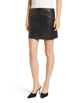 Marrie Leather Miniskirt by Cupcakes And Cashmere