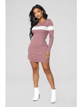 Skylar Sweater Midi Dress   Rose/Combo by Fashion Nova