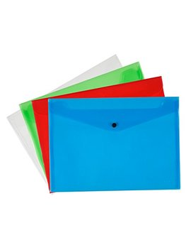 Q Connect A4 Polypropylene Document Folder   Assorted, Pack Of 12 by Q Connect