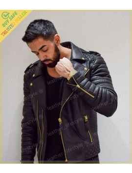 New Men's Genuine Lambskin Leather Jacket Black Slim Fit Motorcycle Biker Jacket by Leather Lifestyle