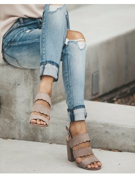 Avalon Scalloped Heel   Taupe by Vici