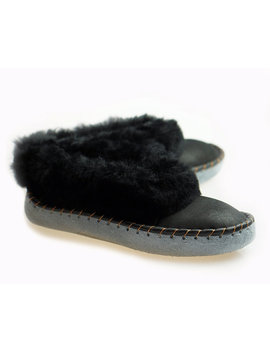 Mens Sheepskin Slippers Moccasin Leather Boots Moccasins For Men House Sheepskin Slippers Handmade Shoes Wool Slippers Best Slippers House by Trending Slippers