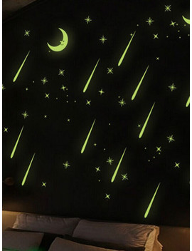 Moon & Star Fluorescent Wall Sticker by Sheinside