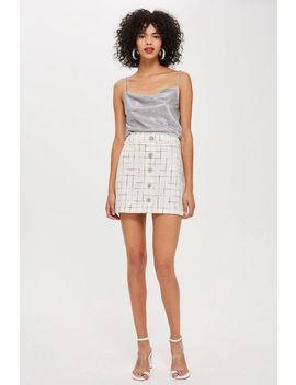 Crystal Trim Boucle Mini Skirt by Topshop