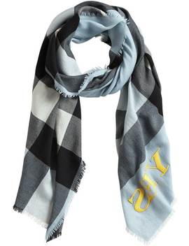 Check Cashmere Scarf by Burberry