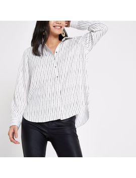 Cream Stripe Shirt by River Island