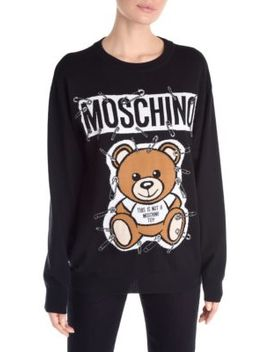 Long Sleeve Bear Pullover by Moschino