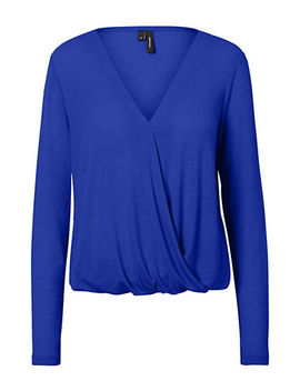 Honey Wrap Long Sleeve Top by Vero Moda
