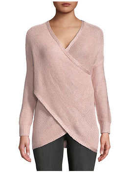 Surplice Wrap Sweater by Design Lab Lord & Taylor