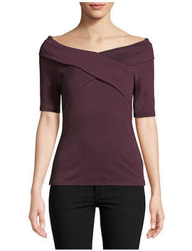 Petite Off The Shoulder Wrap Top by Lord & Taylor