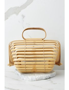 Right Before My Eyes Japanese Collapsible Bamboo Bag by Joia
