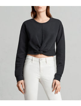 Paloma Cropped Sweatshirt by Allsaints